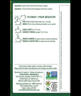 Organic Fennel Tea Ingredients & Info